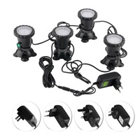 4pcs Waterproof RGB 36 LED Underwater Spot Light For Swimming Pool Fountains Pond Water Garden Aquarium Fish Tank Spotlight Lamp