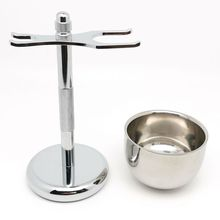Shaver-Holder-Set Stand Razor Shaving-Brush Wet-Shave Perfect TEYO Chrome Cup for Double-Edge