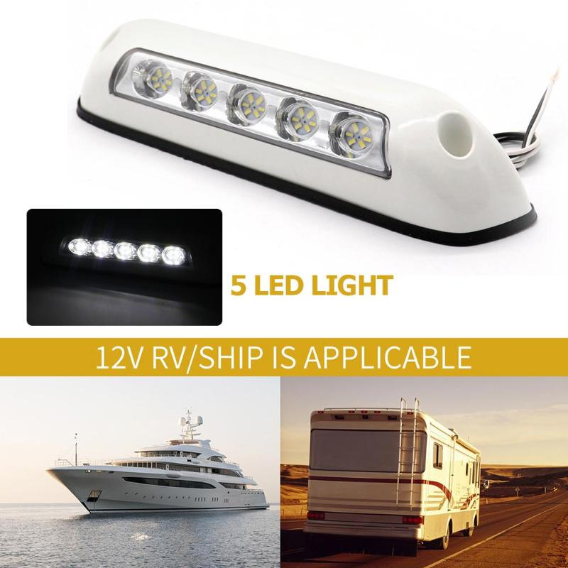 12V LED RV Awning Porch Light IP67 Waterproof Marine Caravan Camper Trailer Exterior Camping Lamp IP67 Waterproof  White Light