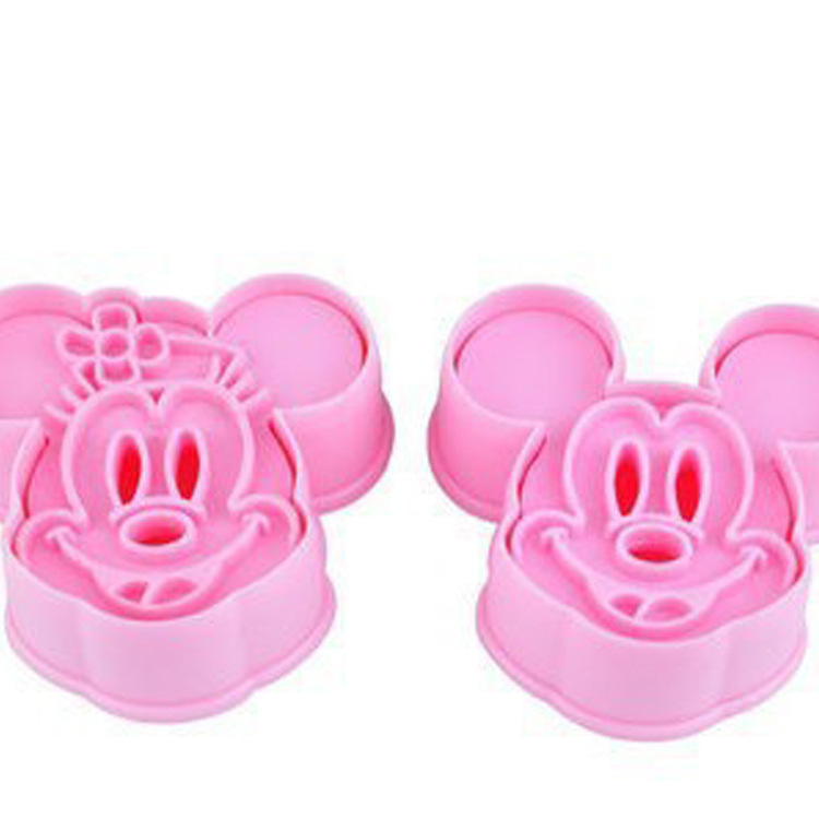 DIY Baking Biscuit Cake Rice Roll Mould Stereo Biscuit Mould Mickey 2 Pieces DIY Cake Mould