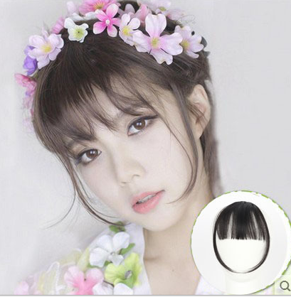Mini lace front wig bangs air horn lengthened bangs fake bangs female ultra-thin invisible no trace wig piece sex doll use