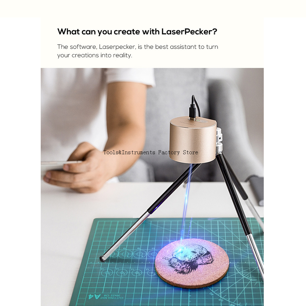 OSRAM LaserPecker 1.6W Laser Engraver Machine 1600mw Wood Router Bluetooth For IOS 9.0+ Android 5.0+ Laser Cutter Printer