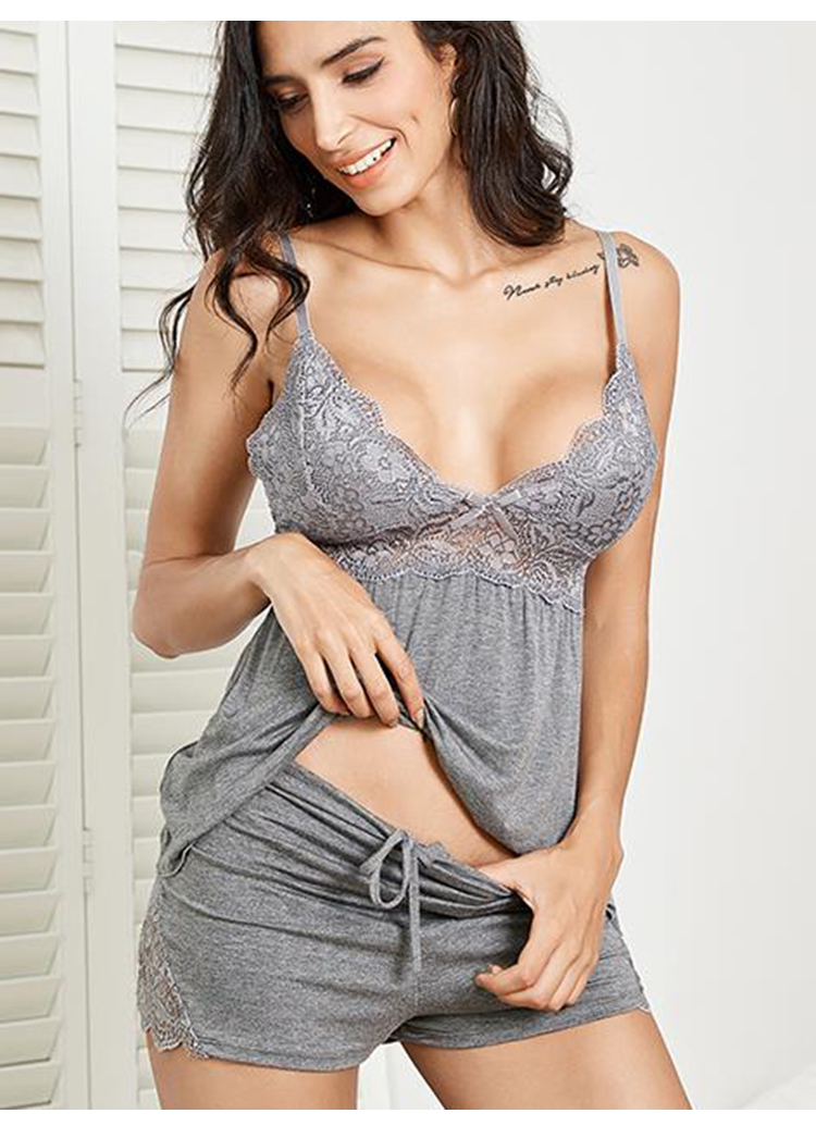 2 Pc Plus Size Cotton Pajama Set Sexy