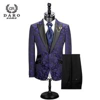 2020 New Men Suit 3 Pieces tuxedo Slim Fit red coffee blue for Wedding Dress Suits Blazer Pant and Vest DR8228