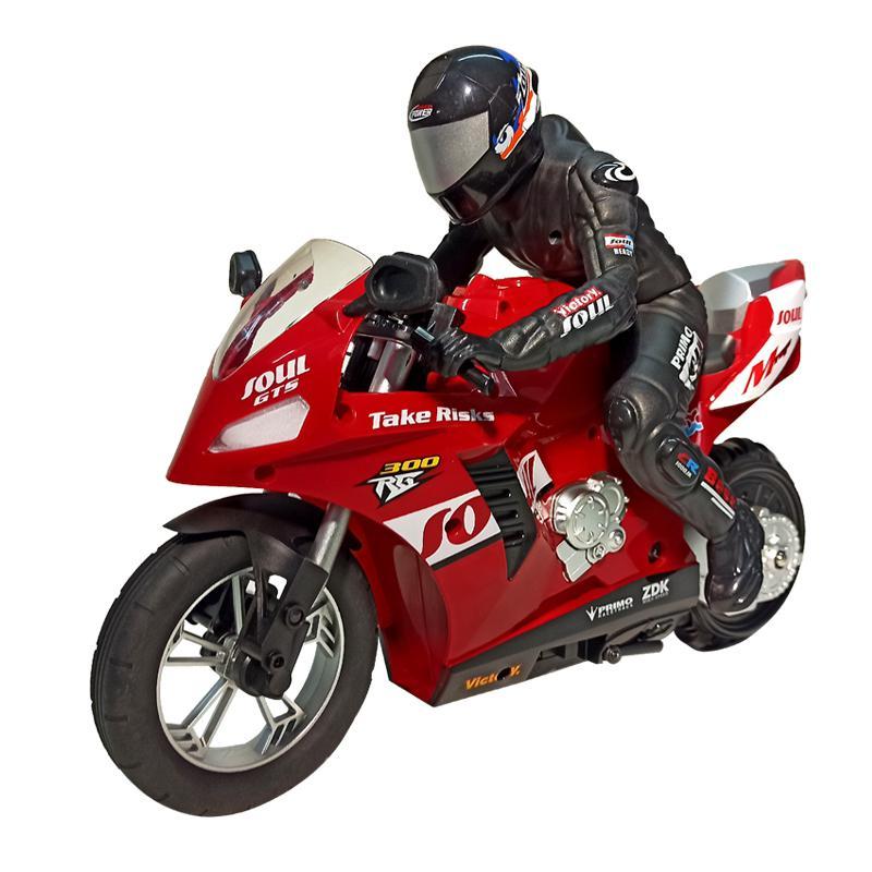 RC moto HC-802 auto-bilanciamento 6 assi del giroscopio acrobatica moto da corsa plastica RTR ad alta velocità 20 km/h 360 gradi deriva