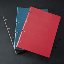 3PCS A4 Loose-leaf shell Notebook Business Note Book High-grade Hard Cover Imitation Leather Diary Pad Shell Office Stationery 2018 a high grade manager clamp the loose leaf notebook business notebook office gift a birthday present