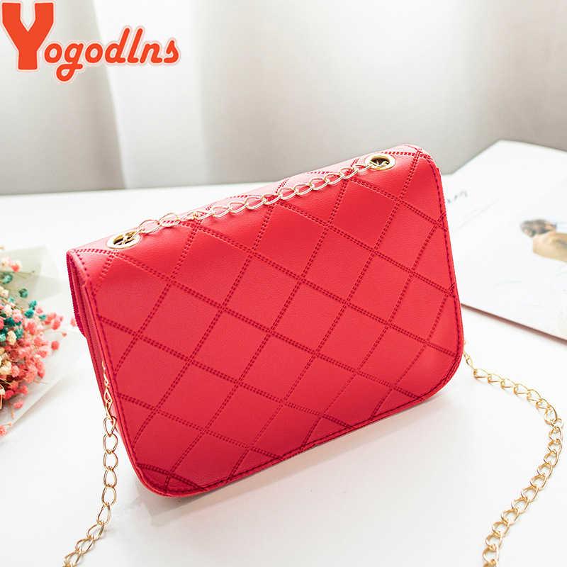 Yogodlns модная женская клетчатая сумка с клапаном дизайнерские сумки женские сумки 2019 маленький день клатч золотая цепочка сумка через плечо для девочек