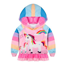 Anime Childrens Wear Cartoon Unicorn Hoodies Girls Boys Hoodie Hoody Casual Coat Sweatshirts Hooded Casual Coat Kid Gift цена 2017