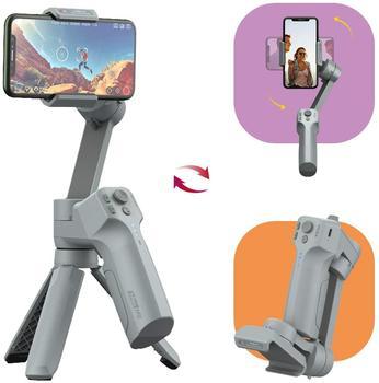 3-eje de mano del cardán estabilizador palo de Selfie para iPhone 11 Pro Xs Max Xr 8X8 Plus 7 Smartphone Galaxy Huawei Moza Mini MX