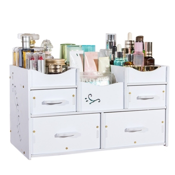 New-Plastic Makeup Organizer Waterproof Cosmetic Container Jewelry Container for Cosmetic High-Capacity Make Up Storage Case multi layer plastic makeup drawers storage box jewelry container make up organizer case cosmetic office boxes large capacity