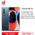 Xiaomi Mi 10 8GB 128GB Snapdragon 865 Octa Core Smartphone 5G Mobile Phone 108MP Quad Camera 6.67 AMOLED Screen 4780mAh Battery
