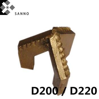 3 wings drilling bit D200 / D220 three blade rock bits hard octagonal alloy customized drilling tools mud pump parts for mining