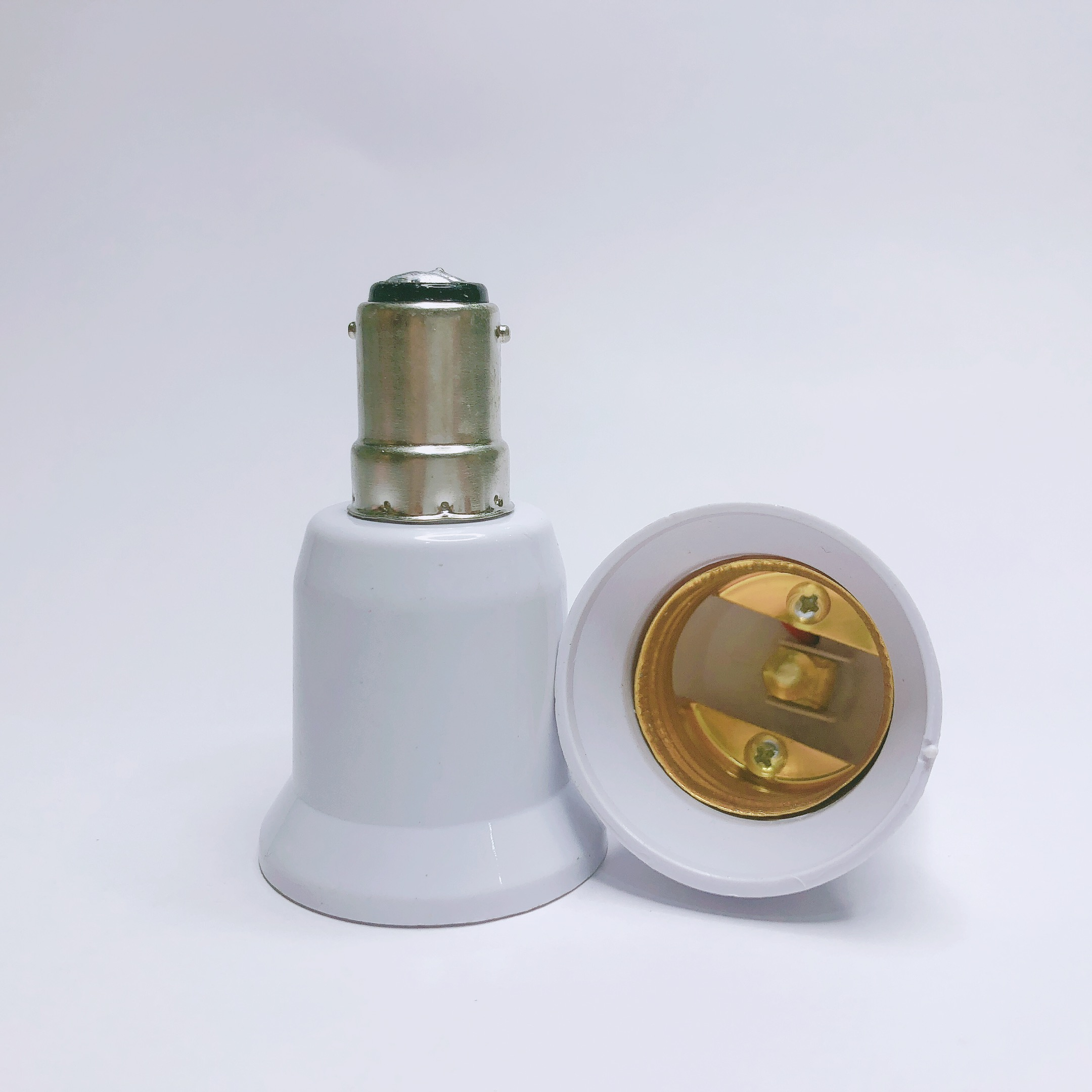 1pc BA15D TO E27 Adapter Conversion Socket High Quality Material Fireproof Material B15 TO E27 Socket Adapter Lamp Holder