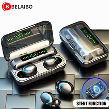 F9TWS Wireless Earphone Bluetooth 5.0 Headphones LED Display Touch Stereo Earbuds Sports Music Headset With 2000mAh Charging Box