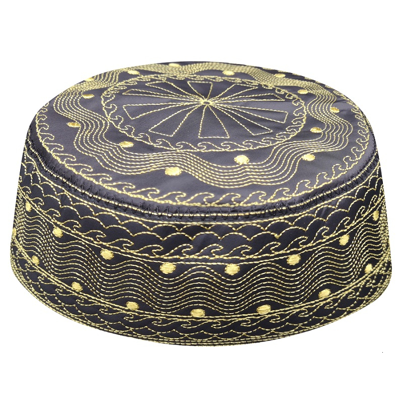 Arabe Allah Caps Men Hats Kippah African Clothes Head Wraps Arab Kippa Sombrero Pesca Turban Wrap Muslim Prayer Clothing Man