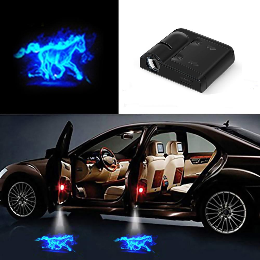 1pcs Universal Car Door Welcome Lights Wireless Ghost Shadow Light Laser Auto Logo Projector LED For BMW Audi Honda Ford Toyota