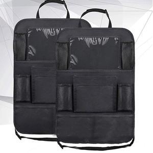Image 1 - รถ Backseat Organizer Kick Mats ที่นั่งป้องกันกลับกับกระเป๋าเก็บที่ชัดเจนสำหรับของเล่นเด็กขวดเครื่องดื่มยานพาหนะอุปกรณ์เสริม