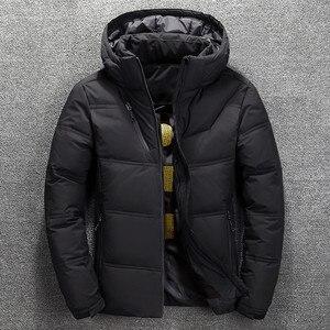 Image 4 - 2019 חורף מעיל גברים באיכות גבוהה תרמית עבה מעיל שלג אדום שחור Parka זכר חם להאריך ימים יותר גברים אופנה לבן ברווז למטה מעיל