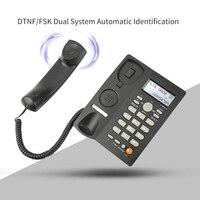 هاتف سلكي مكتبي مع شاشة إظهار هوية المتصل ، هاتف أرضي سلكي للمنزل/الفندق/المكتب ، حجم قابل للتعديل ، تاريخ في الوقت الحقيقي ث|أجهزة الهاتف|   -