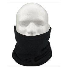 Унисекс полярная Манишка из флиса термальный Снуд шарф Шапка Лыжная одежда Сноубординг-черный