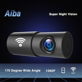 Aiba A10 Dash Cam 1080P HD Nachtsicht Wifi Autokamera Recorder 170 Grad breit G-Sensor Dash Cam 24H Parkmonitor Auto Dvr