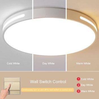 цена на Modern LED Ceiling Light Lamp Lighting Fixture Surface Mount Flush Switch Dimmable 48W Living Room Bedroom Balcony AC 220V