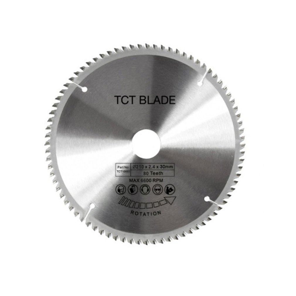 80 Teeth TCT Circular Saw Blade Wheel Discs TCT Alloy Woodworking Multifunctional Saw Blade For Wood Metal Cutting