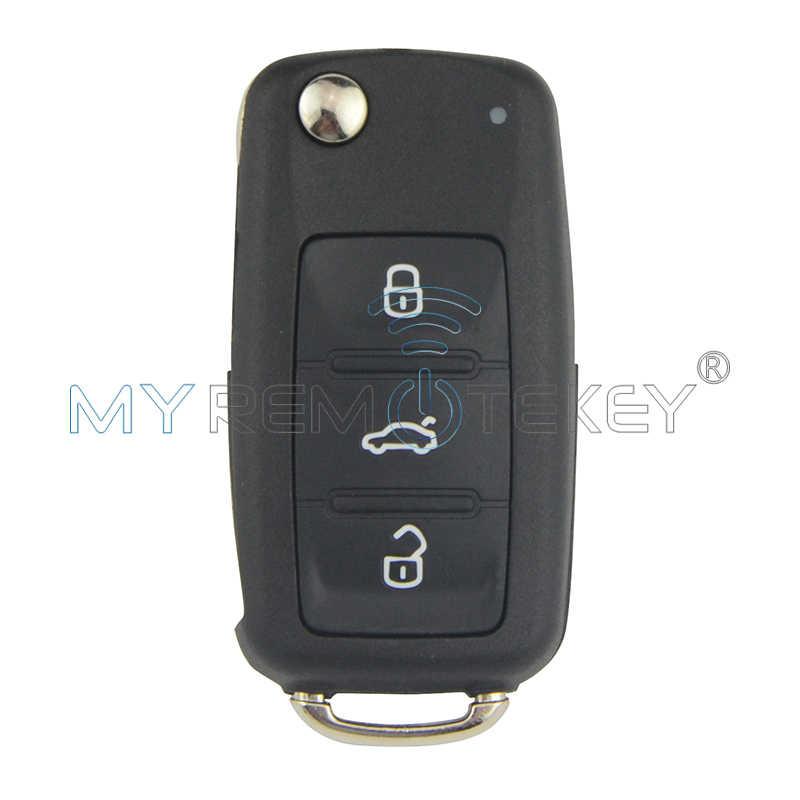 2 шт. флип автомобиль дистанционного ключа для VW Beetle, Golf, jetta Eos Polo Tiguan ID48 434 МГц 2011-2013 HU66 3 кнопки 5K0 837 202 AD Remtekey
