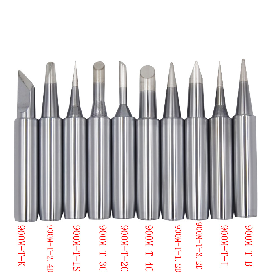 10pcs 900M T Series Soldering Iron Tip  Eletric Solder Iron Lead-free Welding Sting For 936Welding Solder Station