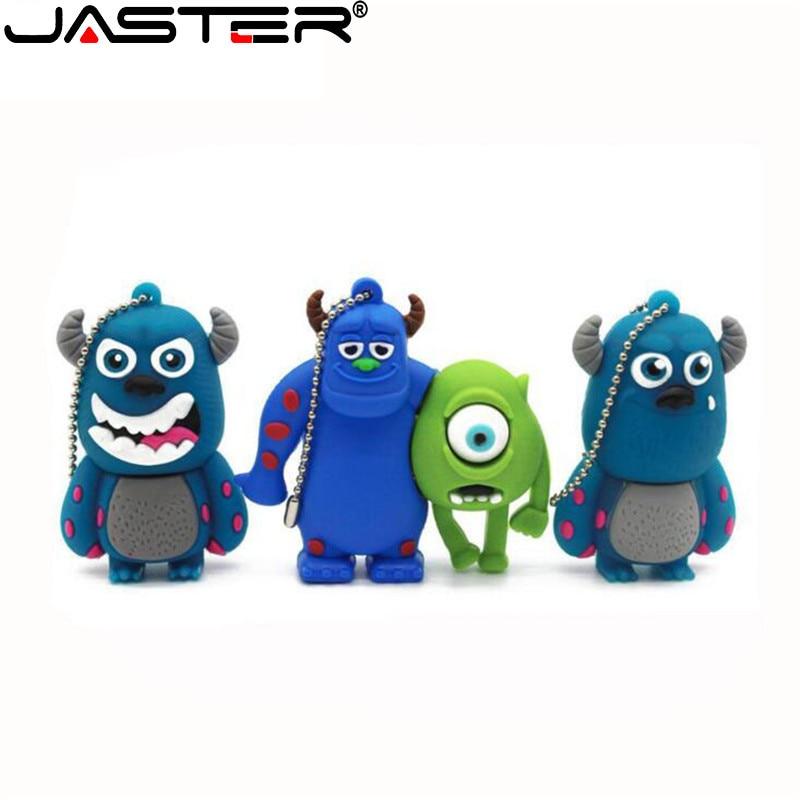 JASTER Usb 2.0 Pendrive Cartoon Monsters Flash Drive 16gb 8GB 4GB Hair Strange And Big Eyes Anmial Cle Flash Pen Drive Funny Usb