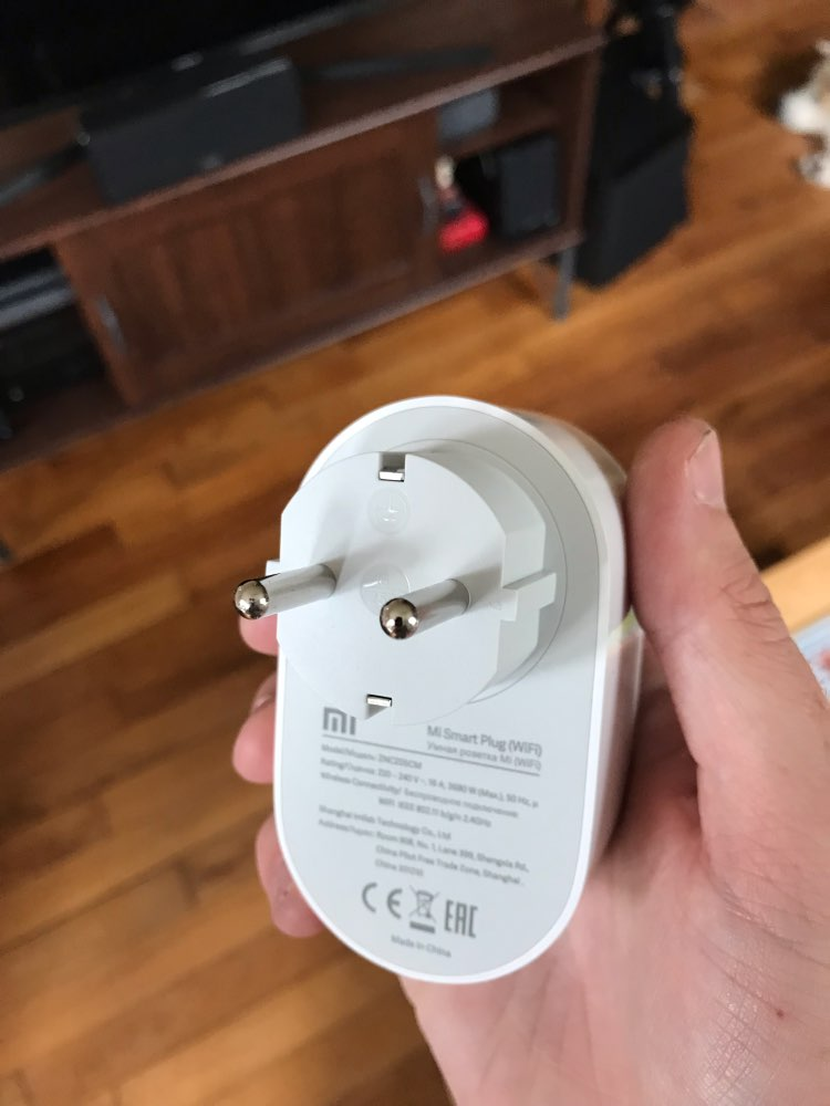Global Version Xiaomi Mi Smart WiFi EU Plug Remote Control Switch on or off with APP Work with Amazon Alexa Google Assistant (Mi Smart Plug WiFi)