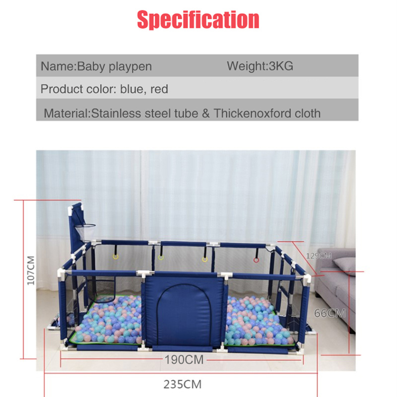 Baby Playpen Made With Stainless Steel Tube For Baby Pool Balls 3