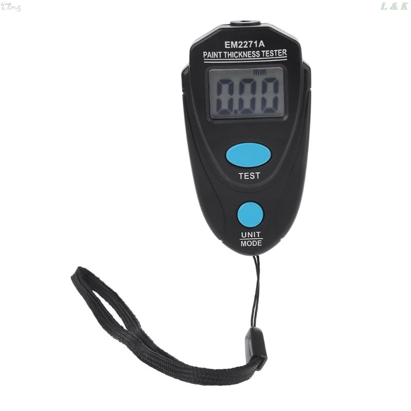 EM2271A Mini LCD Digital Automobile Thickness Gauge Car Paint Tester Display Thickness Coating Meter Testing Instrument