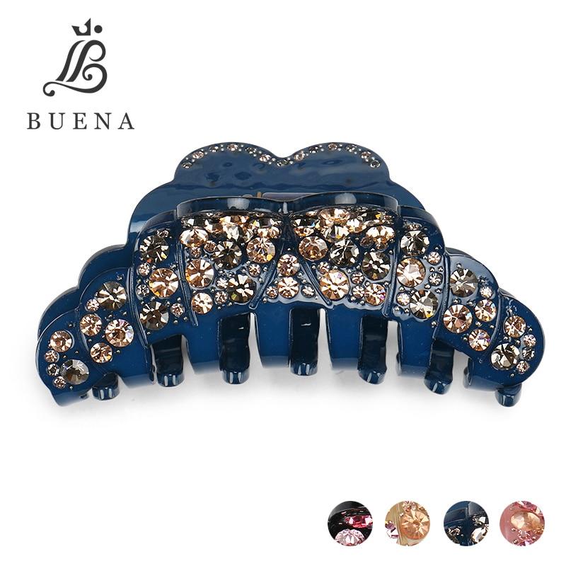 Haute qualité cher strass bandeau pince acrylique pour mariage bijoux de mode fête pince à cheveux livraison gratuite AA50