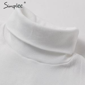 Image 5 - Simplee élégant dentelle manches patchwork femmes blouse col roulé automne hiver femme tricoté hauts Streetwear dames blouses chemises