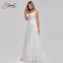 OLLYMURS New Elegant Woman Evening Gown White V-neck Embroidered Lace Delicate Design Super Fairy Elegant Evening Dress white delicate lace mini slip dress