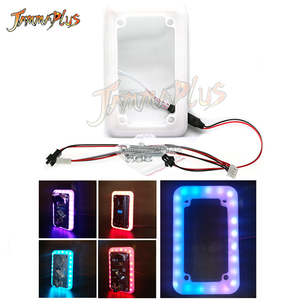 Universal Colorful LED Flash Decorative Front Type Coin Selector/ 12V Illuminate Frame Coin Acceptor for Vending Arcade Machine