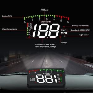 Image 2 - A100 3.5 A900 HUD Head Up ekran araba styling Hud ekran aşırı hız uyarı cam projektör Alarm sistemi evrensel otomatik