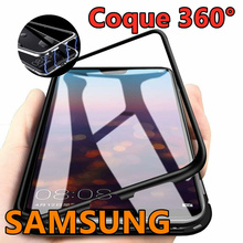 Magnetic Shell Rear Protection Tempered Glass For Samsung S9 / S10 / Plus / S8 / Note 8 9