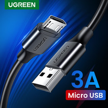 Ugreen Micro Usb Kabel 3A Snel Opladen Usb Data Kabel Mobiele Telefoon Opladen Kabel Voor Samsung Huawei Htc Android Tablet kabel(China)