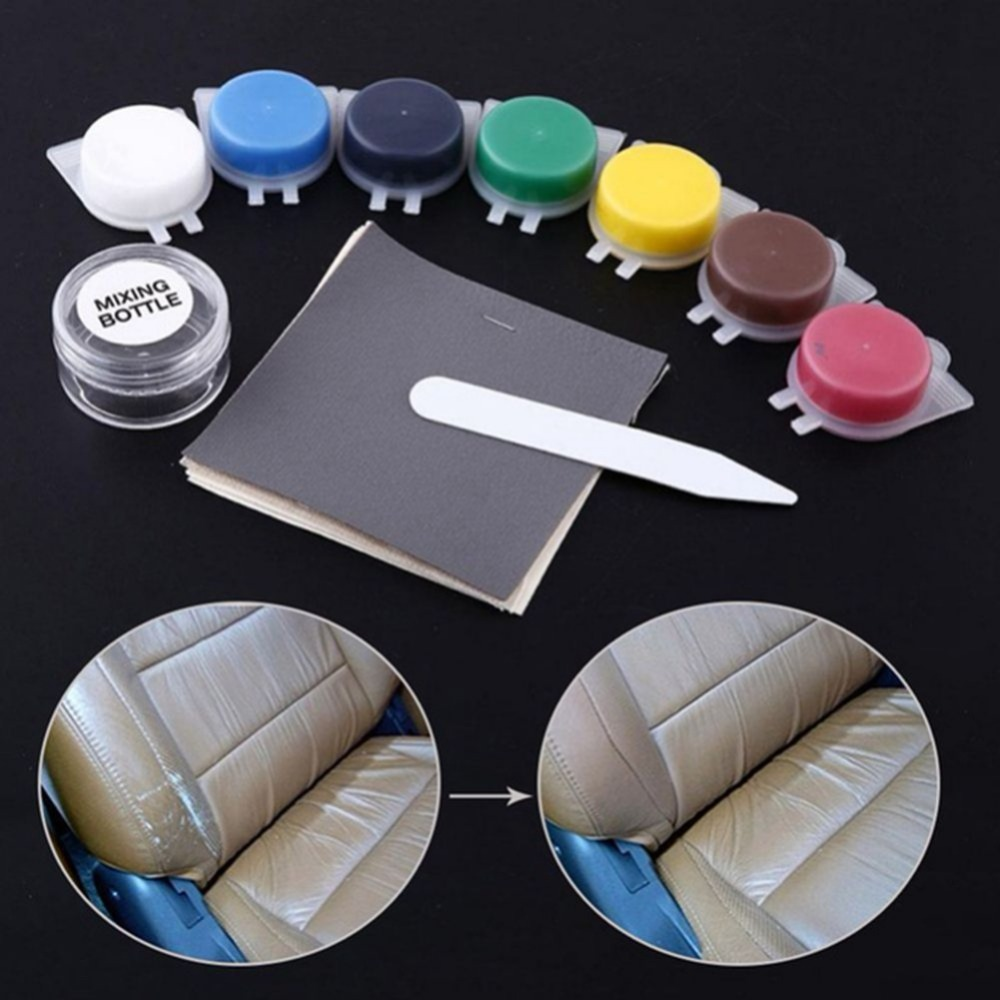 Hot Auto Car Seat Sofa Coats Holes Scratch Cracks Rips No Heat Liquid Leather Vinyl Repair Kit Repair Tool|Polishes| |  - title=
