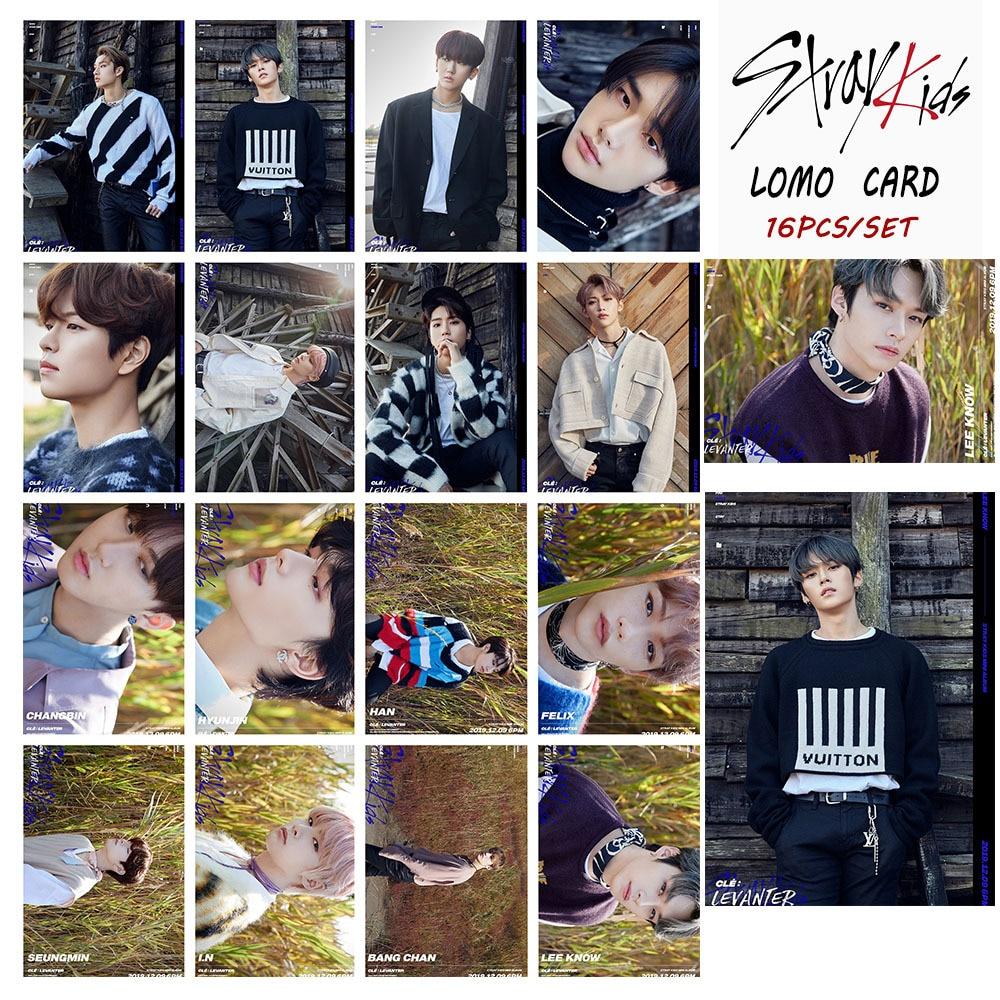 16pcs/set Kpop STRAY KIDS Photocard New Album LEVANTER Poster Lomo Card Kpop Straykids Photo Card New Arrivals