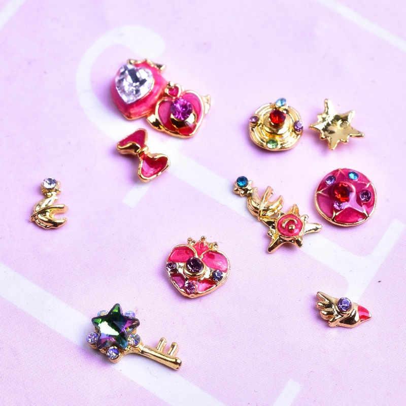 100 Pcs Unghie artistiche Decorazioni Disegni Sailor Moon Diamante Ornamento Pietre Strass Per Gioielli Unghie Per Manicure Accessori