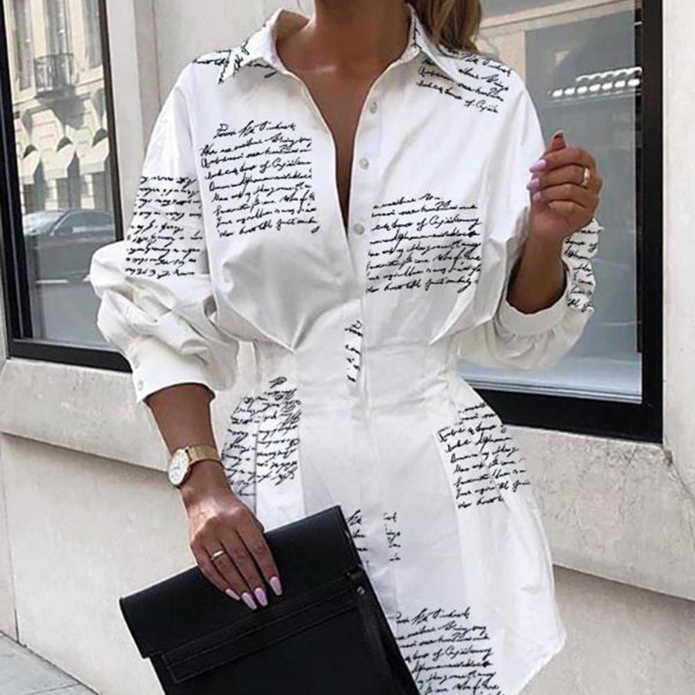 Sexy White Shirt Dress Letters Print Women Lace Up T Shirt Dress Casual Mini Short Autumn Dresses Streetwear Winter Clothing