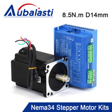 JMC NEMA34 2Phase 8.5N.m Stepper Motor and Driver Kits Match with 57/86/110 Motor for CNC Router Machine 86J18118-460+2DM860H