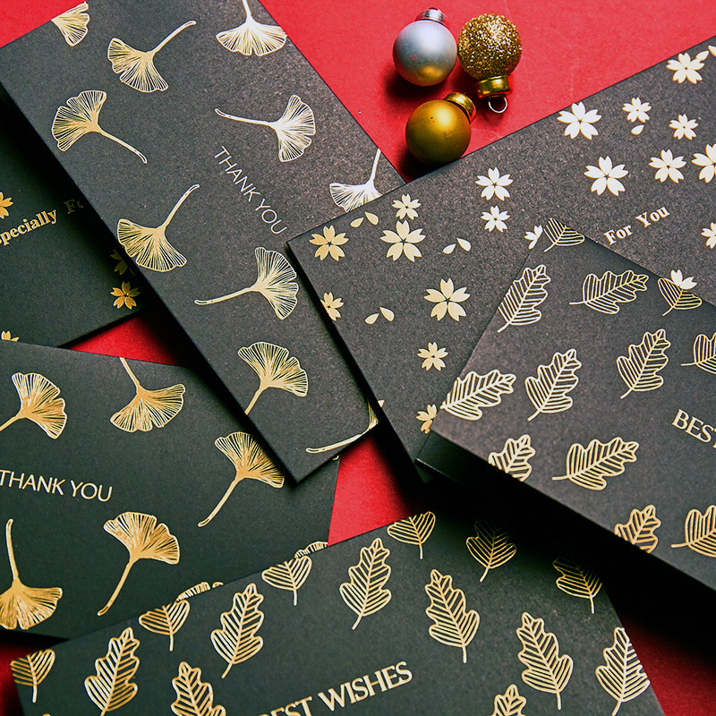 New Christmas Greeting Card With Envelope Christmas Berry Pineal DIY Handmade Paper Greeting Cards Christmas Gifts Drop Shipping