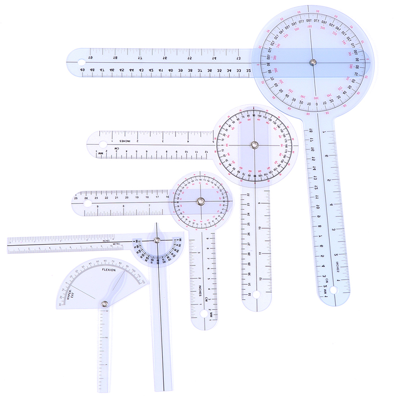 1Pcs Medical Spinal Ruler Finger Goniometer Angle Protractor 12/8/6 Inch Ruler