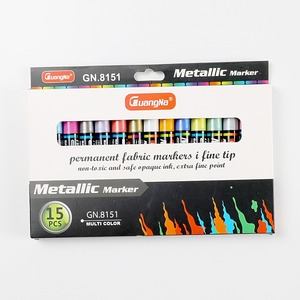 Image 5 - 15 צבעים מתכתי עט קבוע אקריליק סמני צבע עבור לשרבט גבולות דפוסים ומלאכת פרויקטים/מבוסס סמני Waterproof