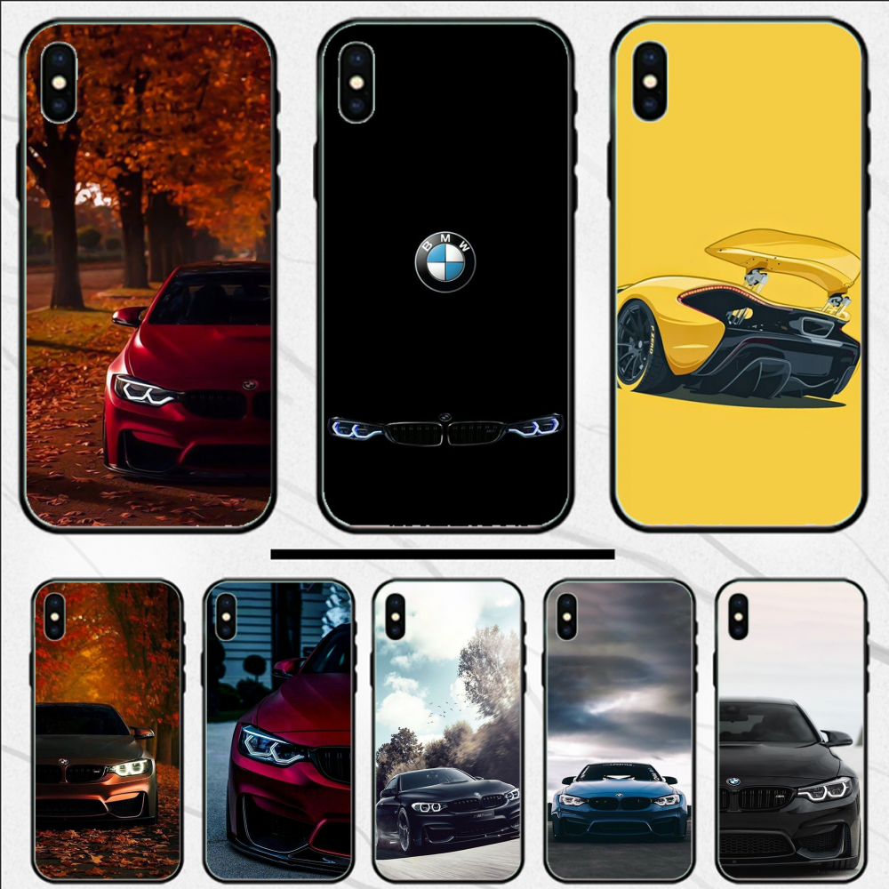 For iphone XR coque Blue Red Car for Bmw Bags Custom Photo Soft Phone Case For iphone X XS XR XS MAX 5 5S SE
