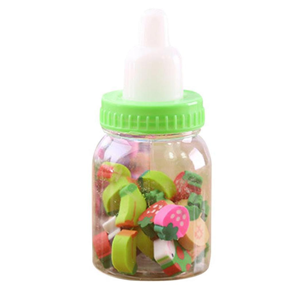 Mini Bottle Rubber Pencil Erasers Toy Office Stationery Fruit Number Shaped Eraser Toys Kids Creative Item Gifts 20-22 Capsules